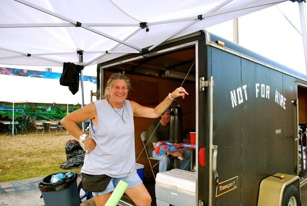 Craft Services angel, Mindy Bonn on set