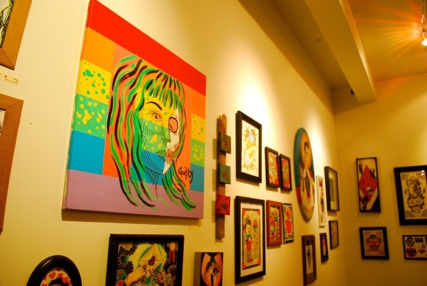 Red Hearts Black Eyes Art Show at Handcrafted