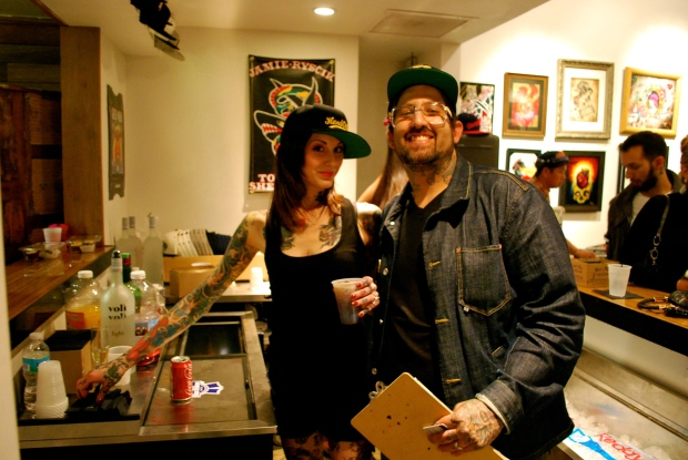 Handcrafted's, Jamie Ryscik with wife