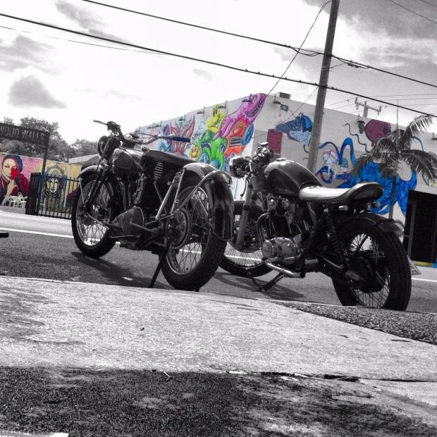 1st Annual Vintage Motorcycle Festival in Wynwood