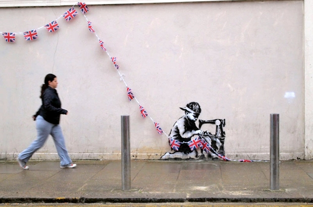 Slave Labor (Bunting Boy) by Banksy