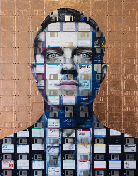 """Opus"" floppy disk art by Nick Gentry"