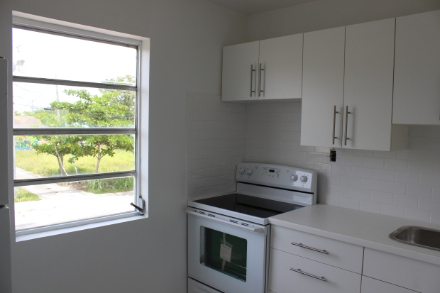 Kitchen in residential Wynwood apartment