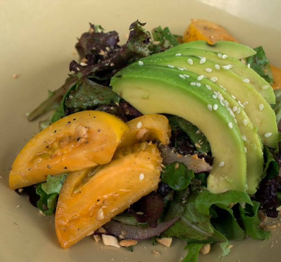 Photo courtesy of Short Order, Second course: avocado and romaine salad